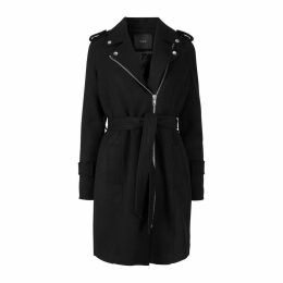 Zip-Up Mid-Length Coat
