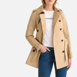 Cotton Mid-Season Trench Coat