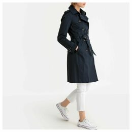 Long Mid-Season Trench Coat in Cotton