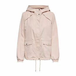 Zip-Up Short Hooded Parka