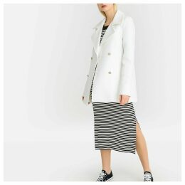 Tailored Double-Breasted Cotton Pea Coat