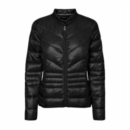 Short Padded Jacket with Zip Fastening
