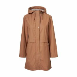 Zip-Up Hooded Mid-Length Trench Coat