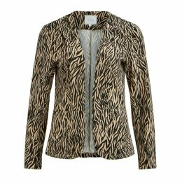 Animal Print Fitted Blazer