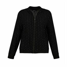 Polka Dot Relaxed Fit Draping Jacket