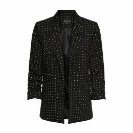 Diana Polka Dot Blazer with 3/4 Length Sleeves