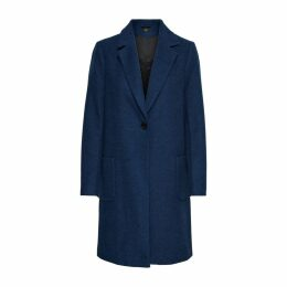 Long Wool Coat with Patch Pockets