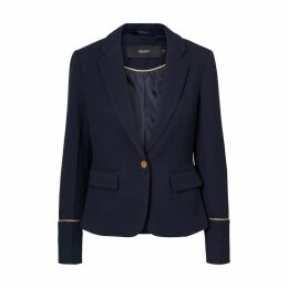 Tailored Collar Blazer with Gold-Coloured Trim