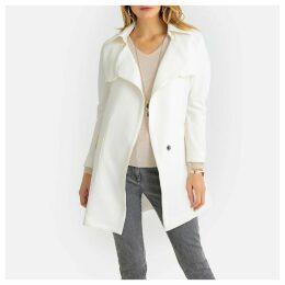 Mid-Length Tie-Waist Trench Coat