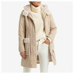 Mid-Length Hooded Coat