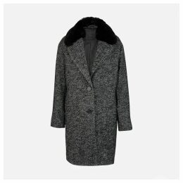 Mid-Season Buttoned Mid-Length Coat