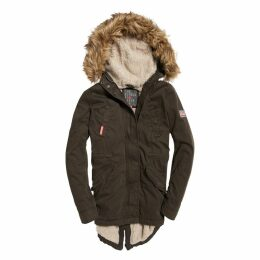 Mid-Length Parka with Removable Faux Fur Hood