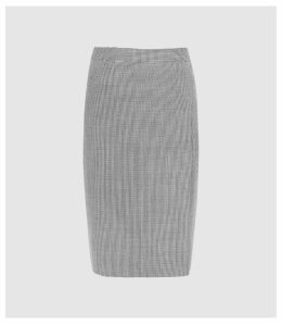 Reiss Romy Skirt - Wool Blend Wrap Front Pencil Skirt in Grey, Womens, Size 16