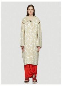 Marni Paint Embellished Suede Coat in Beige size IT - 40
