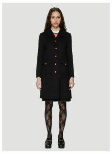 Gucci Classic Tailored Wool Coat in Black size IT - 42