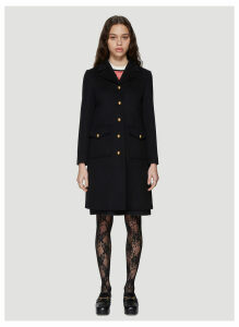 Gucci Classic Tailored Wool Coat in Black size IT - 44