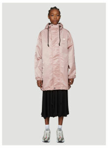 Acne Studios Osborn Hooded Parka Jacket in Pink size S