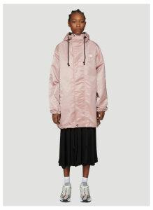 Acne Studios Osborn Hooded Parka Jacket in Pink size M