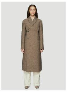 Jil Sander Double-breasted Coat in Brown size DE - 38