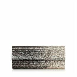 SWEETIE Pochette en acrylique à paillettes avec dégradé noir et champagne