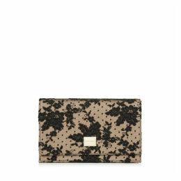 LIZZIE Petit sac en étoffe à dentelle florale noire
