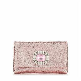 TITANIA Petit sac en étoffe pailletée avec une pièce centrale sertie de bijoux