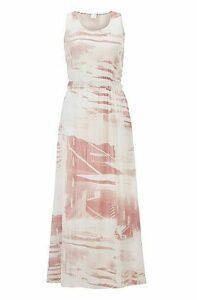 Regular-fit maxi dress with plissé detailing