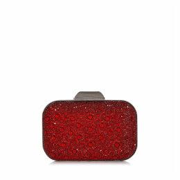 CLOUD Clutch mit Kristallverzierung in Rot