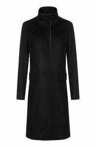 Fully lined coat in a wool blend with cashmere
