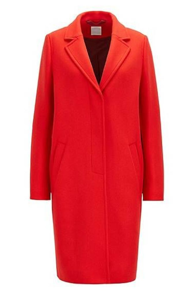 Heavyweight coat in a wool blend with cashmere