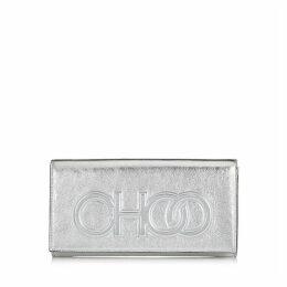 SANTINI Minitasche aus Nappaleder in Silbermetallic