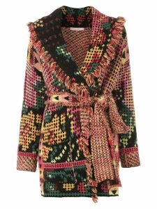 Cecilia Prado printed knitted trench coat - Black