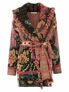 Cecilia Prado printed knitted trench coat - Black