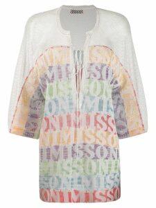 Missoni Mare lace-up beach dress - White