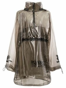 Juun.J transparent rain coat - Black
