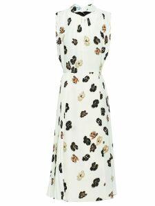 Prada violet print dress - White