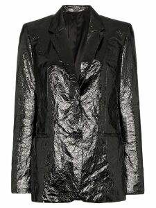 Helmut Lang single-breasted crinkled blazer - Black