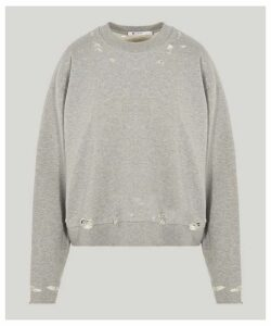 Dry French Terry Distressed Sweatshirt