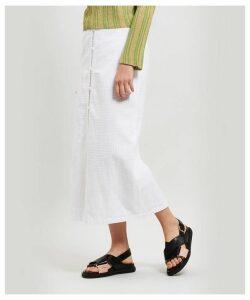 Lalonde Button-Up Pocket Midi-Skirt