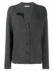 Miu Miu bow detal cardigan - Grey