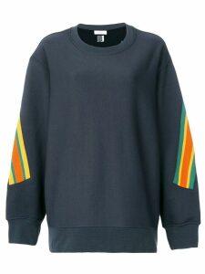 Facetasm oversized stripe detail sweatshirt - Black