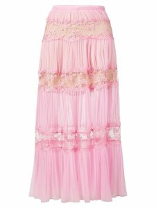 Christopher Kane gathered trim mesh skirt - Pink