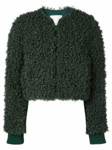 Tibi faux shearling bomber jacket - Green