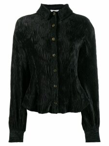 Ganni pleated shirt - Black