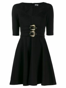 Versace Jeans Couture double-buckle dress - Black