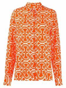 Jil Sander printed button down shirt - ORANGE