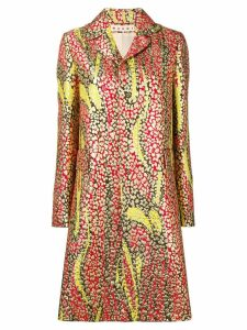 Marni floral trench coat - Red
