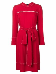 Marni belted sweater dress - Red