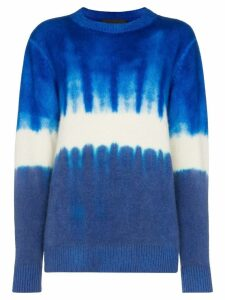 The Elder Statesman tie-dye print cashmere jumper - Blue