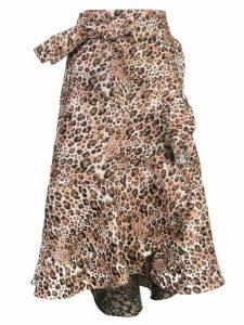 Johanna Ortiz leopard-print skirt - Brown